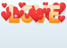 Background beautiful red heart. Vector. royalty free illustration