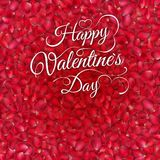 Background of beautiful red rose petals. EPS 10 Royalty Free Stock Image