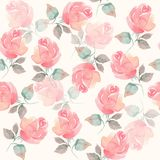 Background with beautiful roses 51. Seamless pattern with hand drawn flowers Stock Photography