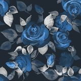Background with beautiful roses. Seamless pattern with hand-drawn flowers 13 Stock Image
