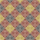 The background of beautiful seamless patterns Stock Image