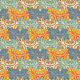The background of beautiful seamless patterns Stock Images