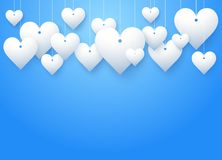 Background beautiful white heart. Vector royalty free illustration