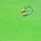 Background of bee painted wall Stock Photo