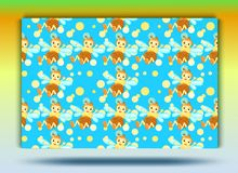 Background bee pattern.Set. stock illustration