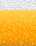 Background with beer and foam Stock Image