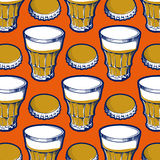 Background with beer glasses Stock Photos