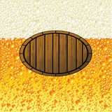 Background beer. Image to be used in bars, pizzerias and pubs, restaurants Royalty Free Stock Images