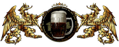 Background with beer mug Royalty Free Stock Image