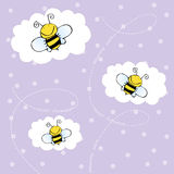 Background with bees. Cute aqnd happy background with bees Royalty Free Stock Photography