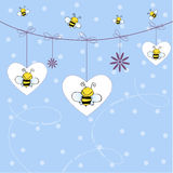 Background with bees. Cute and nice background with bees Stock Photo