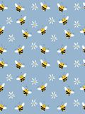 Background with bees. Vector. Illustration stock illustration