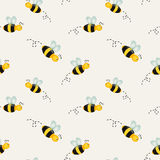 Background with bees. Vector illustration. Background with cartoon bees. Vector illustration Stock Image
