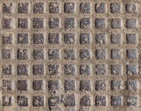 Background beige, brown stone tile square, covering, finishing Royalty Free Stock Photo