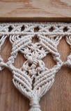 Beige cotton tassels Stock Photos