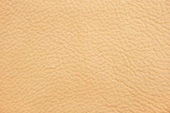 Background of beige leather. Closeup Royalty Free Stock Image