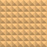 Background of beige squares with shades and edges, in the form of a graphic geometric volumetric mosaic.n stock illustration