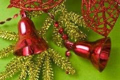 background bell christmas green стоковые фотографии rf