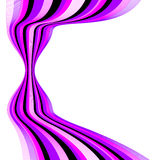 Background with bent lines. Vector illustration stock illustration