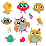 Background berries bird birds. Color Royalty Free Stock Photography
