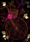 Background with bicycle and flowers Royalty Free Stock Photography