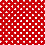 background big dots polka red white 免版税图库摄影