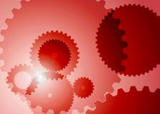 Background with big gears in red color. Vector color picture of abstract background with big gears red color vector illustration