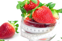 Background big juicy ripe strawberry and flower Stock Image