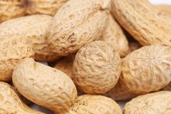 Background of big peanuts Royalty Free Stock Images