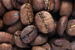 Background of big roasted coffee beans Stock Photography