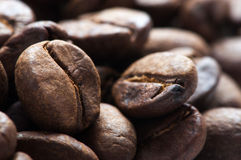 Background of big roasted coffee beans Stock Photo