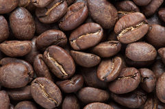 Background of big roasted coffee beans Royalty Free Stock Image