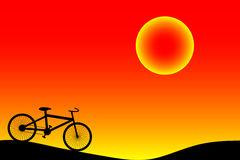 Background with bike. Stock Photography