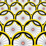 Background with bike wheels. Royalty Free Stock Photo