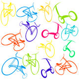 Background with bikes Stock Photo