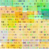 BACKGROUND FROM THE BINARY CODE IMAGE. Background of multi-color geometric shapes and binary code for text vector illustration