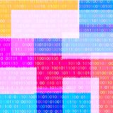 BACKGROUND FROM THE BINARY CODE IMAGE. Multi-colored background image of binary code for text vector illustration