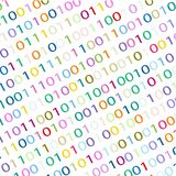 BACKGROUND FROM THE BINARY CODE IMAGE. White background with binary code of different colors for text vector illustration