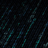 Background of binary code. Stock Photography