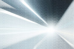 Background with binary data and motion blurred background Stock Photos