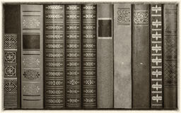 Background from bindings of books Stock Photo