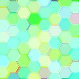 Background with birch acid hexagons. Raster Stock Image