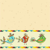 Background with bird parrot. Background with parrots,  birds. space for text. can be used as a greeting card Royalty Free Stock Photography