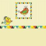 Background with bird parrot. Background with parrots,  birds. space for text. can be used as a greeting card Stock Photos