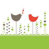 Background with birds. Vector illustration Royalty Free Stock Image