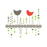 Background with birds. Vector illustration Stock Photos