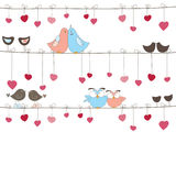 Background with birds. Vector illustration Royalty Free Stock Photo