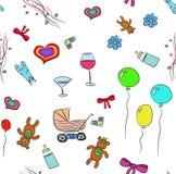 Background birthday baby Royalty Free Stock Photo