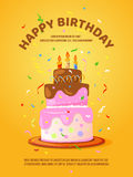 Background with birthday cake and candles. Vector illustration Royalty Free Stock Photo