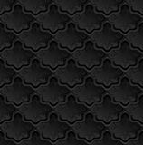 Background. Black background with vintage ornament, seamless pattern Stock Photography